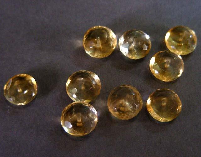 31.95 CTS parcel 10 mm lemon quartz beads  11 522