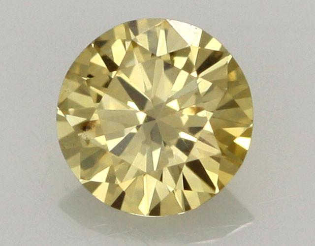 0.27 CTS FINE RUSSIAN YELLOW  DIAMOND SI1  DMY 0003
