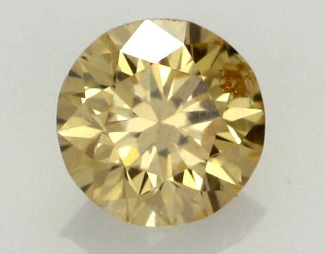 0.20 CTS FINE RUSSIAN YELLOW  DIAMOND SI1  DMY 0006