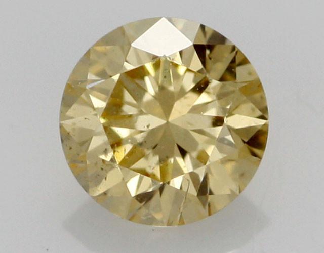 0.34 CTS FINE RUSSIAN YELLOW  DIAMOND I1  BR 0011