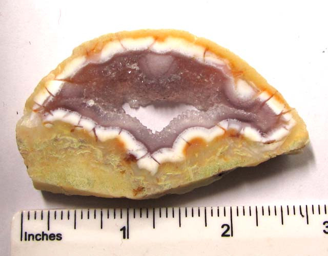 180 CTS POLISHED BRAZILIAN WITH DRUZY AGATE SLICE  MS1372