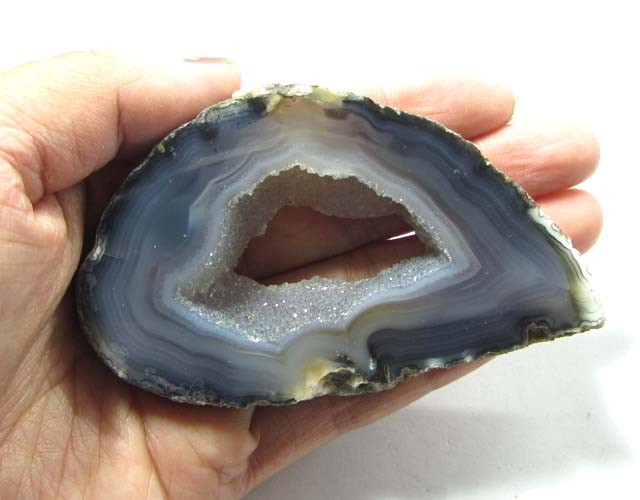 284 CTS POLISHED BRAZILIAN WITH DRUZY AGATE SLICE  MS1377