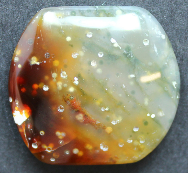 30.60 CTS OCEAN JASPER CABOCHON FROM OLD COLLECTION
