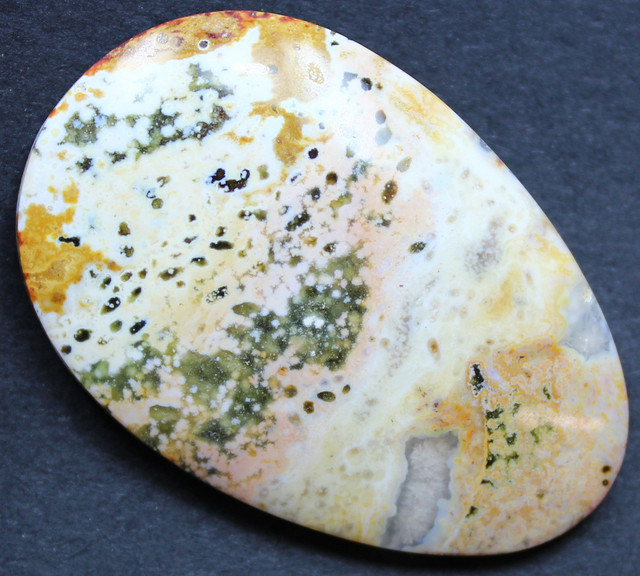 49.60 CTS OCEAN JASPER CABOCHON FROM OLD COLLECTION