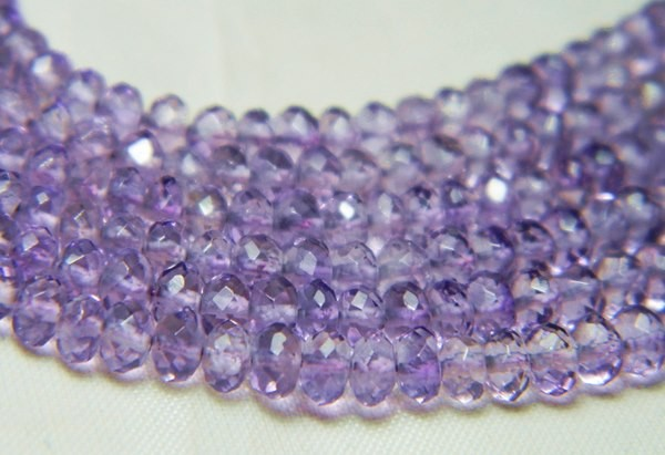 40cts Natural Brazil Amethyst Faceted Beads J81