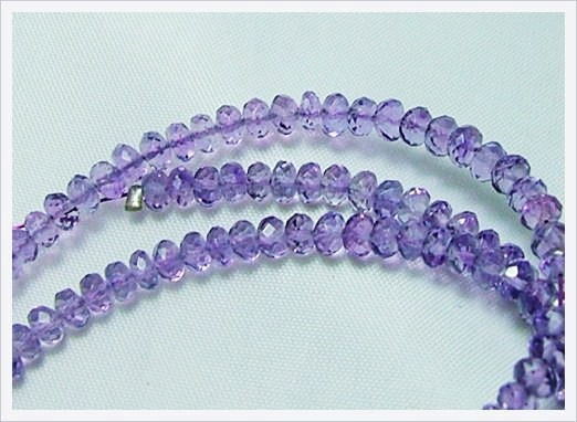 39cts Natural Brazil Amethyst Faceted Beads J82