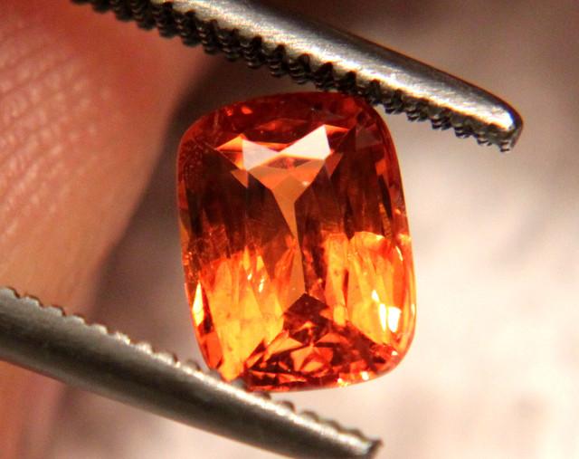 Flashiest 1.11 Carat Fiery SI Orange Garnet - Superb