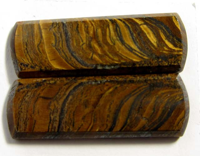 30.6 CTS PAIR   BRIGHT VEINED TIGER EYE GG 85