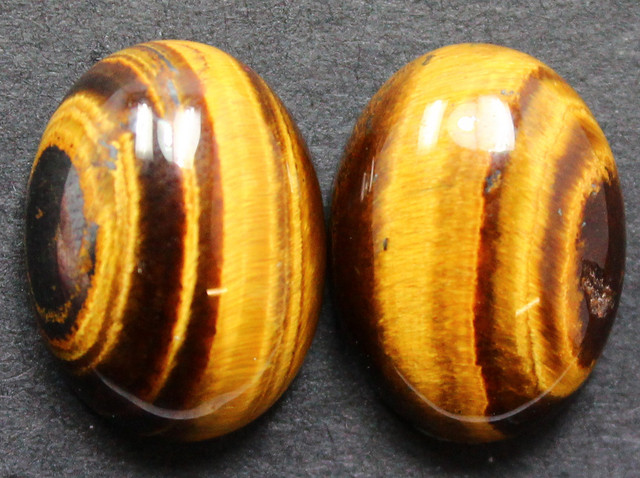 17.80 CTS TIGER EYE PAIR SHIMMERING STONES