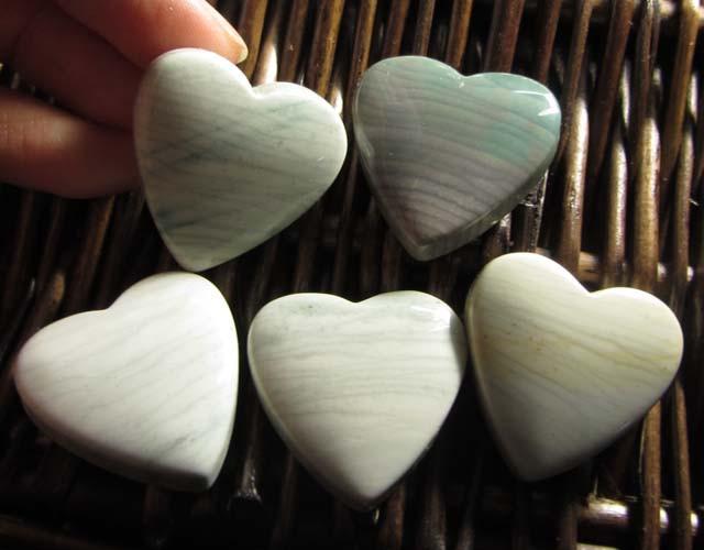 207 CTS FIVE WAVE HEART JASPER BEADS  MS 1469