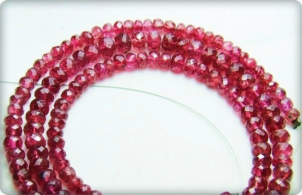 100% Natural Burma Red Spinel Faceted Beads J56