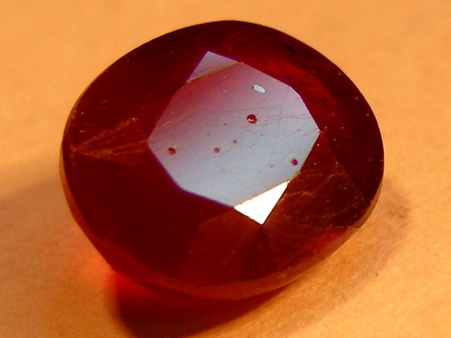 CERT 2.09 CTS FACETED CUT RED RUBY  11 808