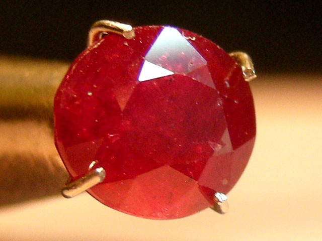 CERT 2.06 CTS FACETED CUT RED RUBY  11 810