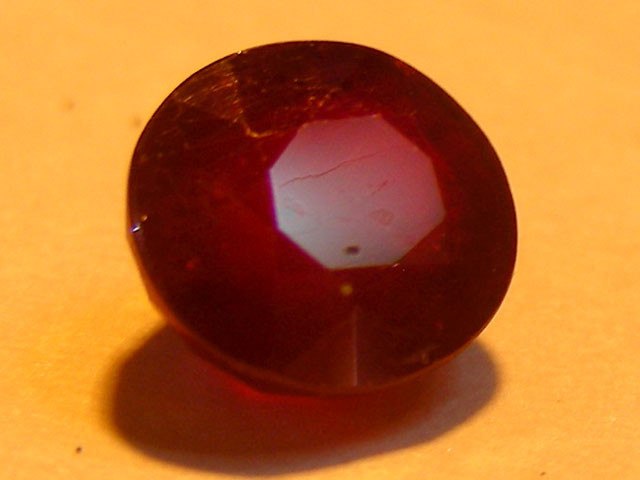 CERT 2.43 CTS FACETED CUT RED RUBY  11 813