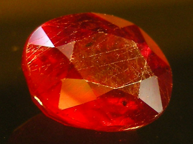 CERT 1.92 CTS FACETED CUT RED RUBY  11 815