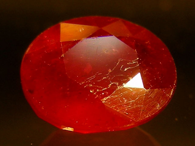 CERT 1.96 CTS FACETED CUT RED RUBY  11 817