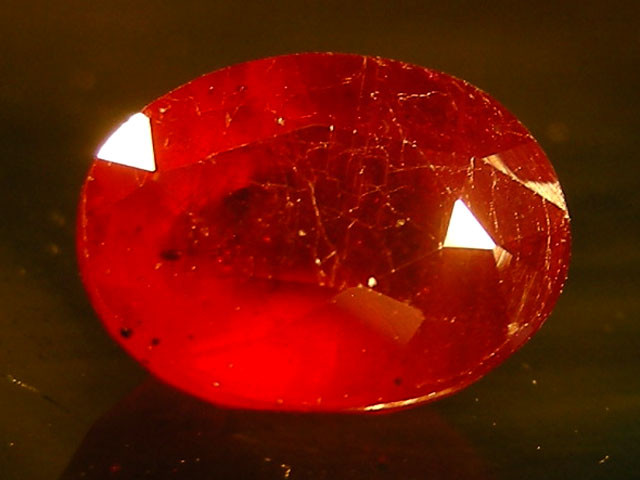 CERT 2.12 CTS FACETED CUT RED RUBY  11 819