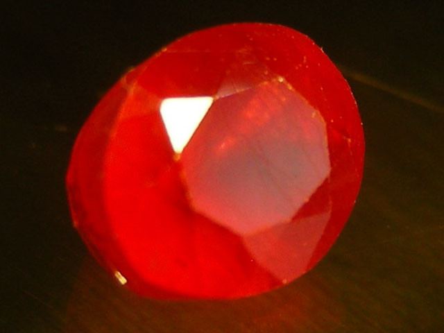 CERT 2.04 CTS FACETED CUT RED RUBY  11 826