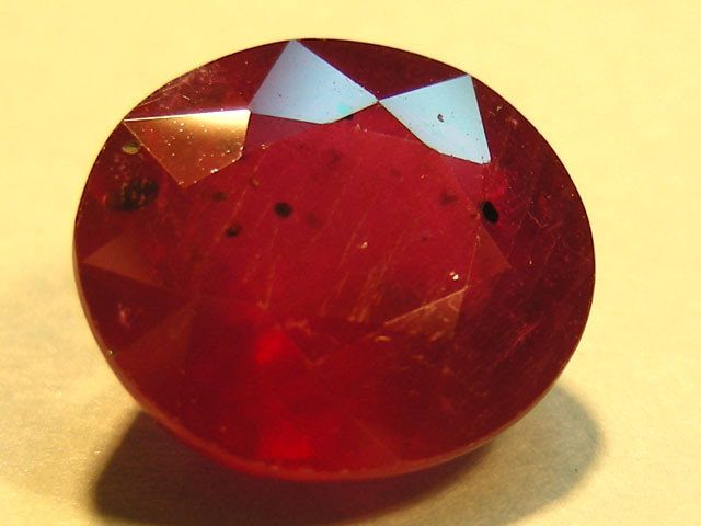 CERT 5.04 CTS FACETED CUT RED RUBY  11 828