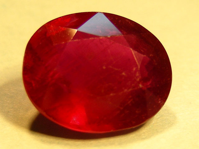 CERT 4.48 CTS FACETED CUT RED RUBY  11 833