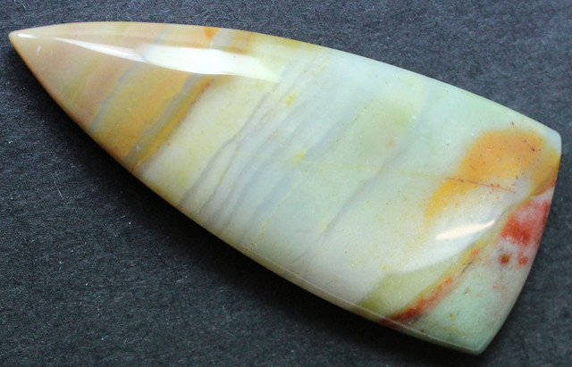 44.90 CTS BANDED AGATE CABOCHON STONE FROM OLD COLLECTION