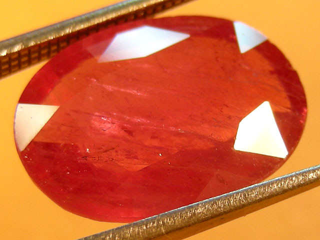 CERT 6.07 CTS FACETED CUT RED RUBY  11 967