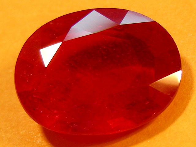 CERT 4.40 CTS FACETED CUT RED RUBY  11 988
