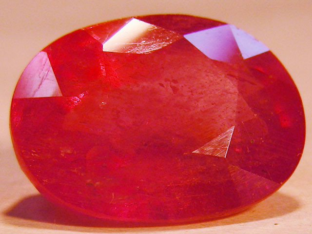 CERT 10.36 CTS FACETED RASPBERRY RED RUBY  11 1000