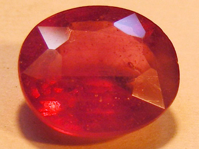CERT 3.15 CTS FACETED RASPBERRY RED RUBY  11 1007