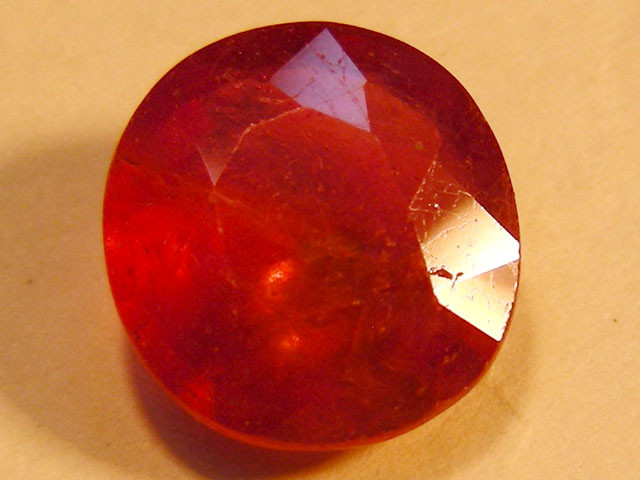 CERT 3.36 CTS FACETED RASPBERRY RED RUBY  11 1013