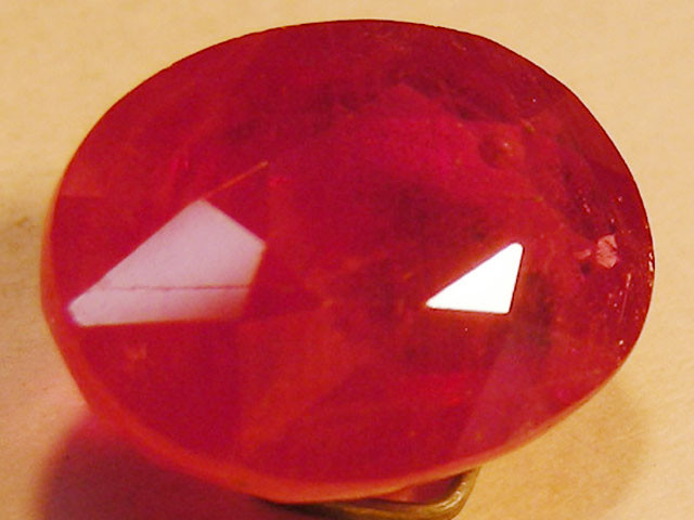 CERT 6.29 CTS FACETED RASPBERRY RED RUBY  11 1017
