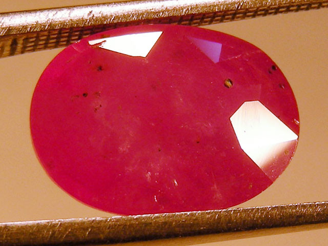 CERT 5.1 CTS FACETED RASPBERRY RED RUBY  11 1032