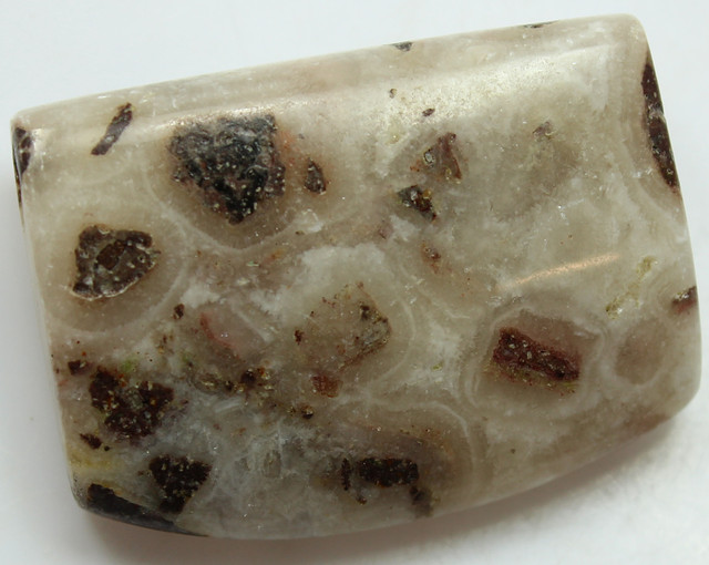 89.55 CTS - FISH EYE AGATE FLOATING ORBS DRILLED BEAD