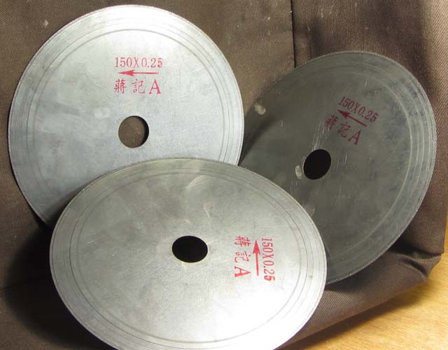6 INCH SAW BLADE .25 THICKNESS THREE BLADES