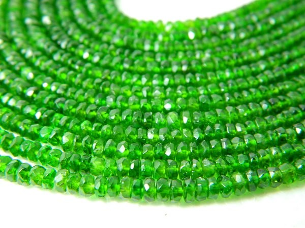 100% Natural Russia Chrome Diopside Faceted Beads J72
