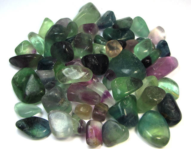 400 GRAMS TUMBLED   NATURAL  FLUORITE STONES MS1510