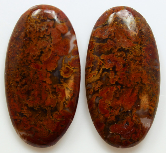 37.60 CTS MT MAURY AGATE PAIR OF STONES
