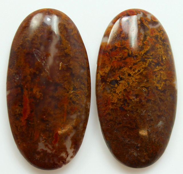 38.45 CTS MT MAURY AGATE PAIR OF STONES