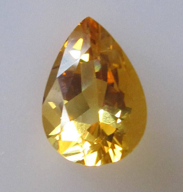 Golden Yellow Citrine Pear Shape, 2.17cts