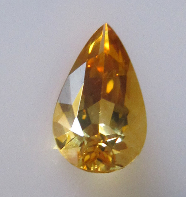 Golden Yellow Citrine Pear Shape, 1.96cts