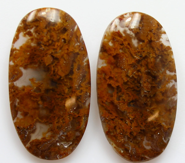 9.00  CTS MT MAURY AGATE PAIR OF STONES