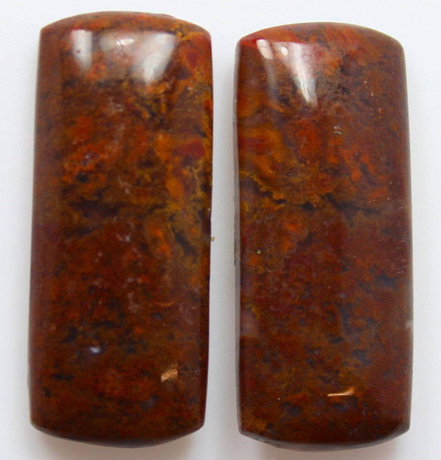 37.10  CTS MT MAURY AGATE PAIR OF STONES