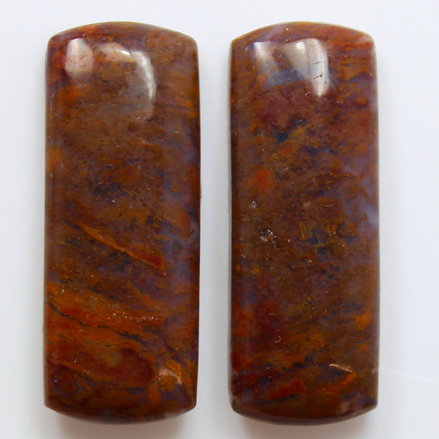 34.25  CTS MT MAURY AGATE PAIR OF STONES