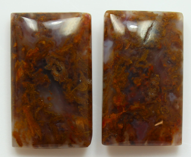 36.55  CTS MT MAURY AGATE PAIR OF STONES