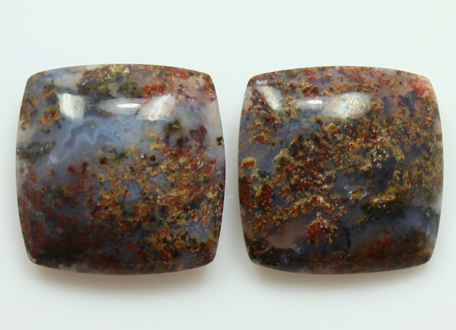 15.00 CTS MT MAURY AGATE PAIR OF STONES