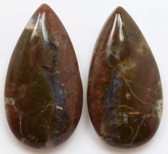 27.30 CTS MT MAURY AGATE PAIR OF STONES