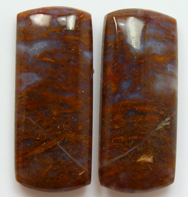 34.75 CTS MT MAURY AGATE PAIR OF STONES