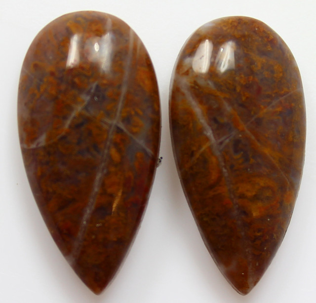 18.50  CTS MT MAURY AGATE PAIR OF STONES