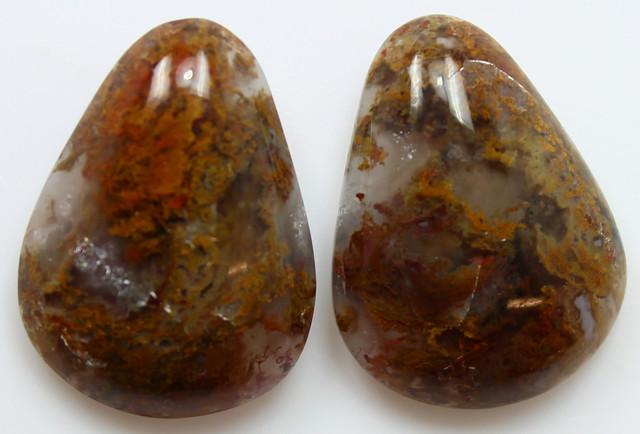 21.85 CTS MT MAURY AGATE PAIR OF STONES