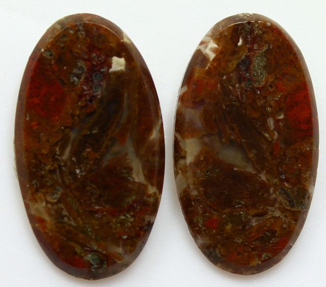 11.60 CTS MT MAURY AGATE PAIR OF STONES